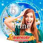 Birthday Horoscope June 5th