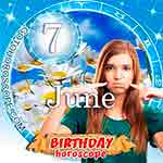 Birthday Horoscope for June 7th