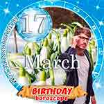 Birthday Horoscope for March 17th