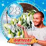 Birthday Horoscope for March 28th