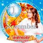 Birthday Horoscope November 1st