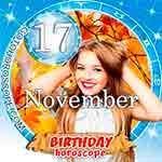 Birthday Horoscope November 17th