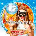 Birthday Horoscope November 18th