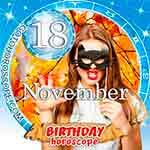 Birthday Horoscope for November 18th