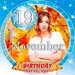 Birthday Horoscope for November 19th