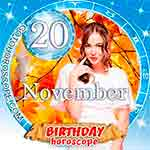Birthday Horoscope for November 20th