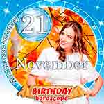 Birthday Horoscope for November 21st