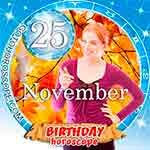 Birthday Horoscope November 25th