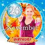 Birthday Horoscope for November 26th