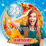 Birthday Horoscope for November 28th
