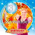 Birthday Horoscope for November 3rd