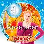 Birthday Horoscope November 4th