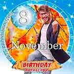 Birthday Horoscope for November 8th