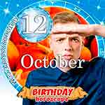 Birthday Horoscope October 12th