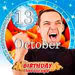 Birthday Horoscope October 13th