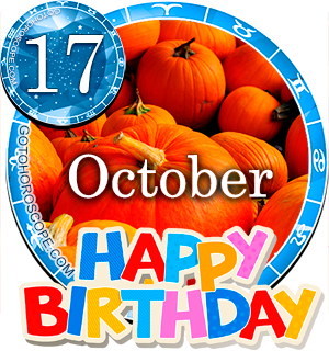 Birthday Horoscope for October 17th