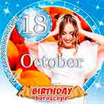 Birthday Horoscope for October 18th