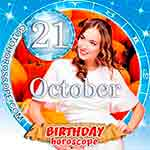 Birthday Horoscope for October 21st
