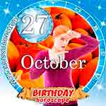 Birthday Horoscope October 27th