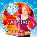 Birthday Horoscope for October 28th