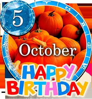 Birthday Horoscope for October 5th