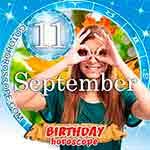 Birthday Horoscope for September 11th