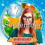 Birthday Horoscope September 17th