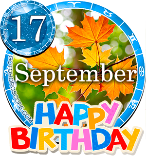 Birthday Horoscope for September 17th