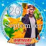 Birthday Horoscope for September 26th