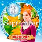 Birthday Horoscope September 3rd