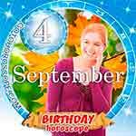Birthday Horoscope September 4th