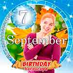 Birthday Horoscope for September 7th
