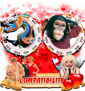 Dragon Monkey Zodiac signs Compatibility Horoscope
