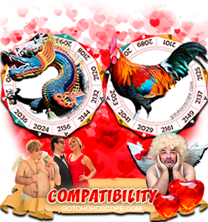 Dragon Rooster Zodiac signs Compatibility Horoscope