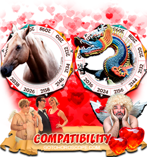 Horse Dragon Zodiac signs Compatibility Horoscope
