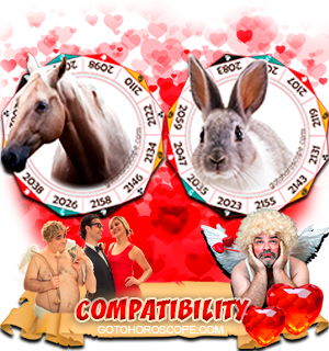 Horse Rabbit Zodiac signs Compatibility Horoscope