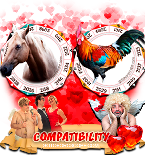 Horse Rooster Zodiac signs Compatibility Horoscope