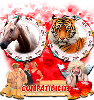 Horse Tiger Zodiac signs Compatibility Horoscope