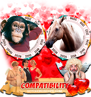 Monkey Horse Zodiac signs Compatibility Horoscope