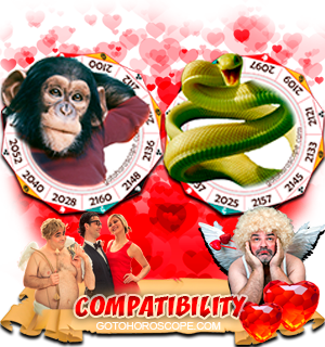 Monkey Snake Zodiac signs Compatibility Horoscope