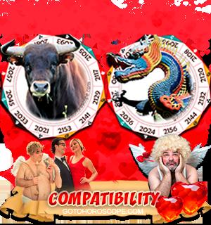 Ox Dragon Zodiac signs Compatibility Horoscope