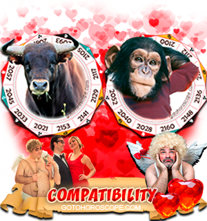 Ox Monkey Zodiac signs Compatibility Horoscope