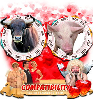 Ox Pig Zodiac signs Compatibility Horoscope