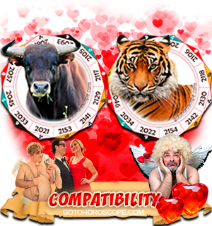 Ox Tiger Zodiac signs Compatibility Horoscope