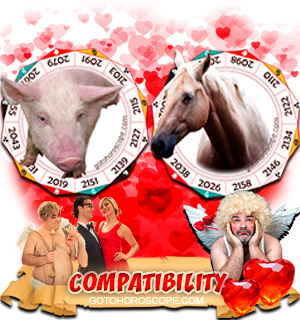 Pig Horse Zodiac signs Compatibility Horoscope