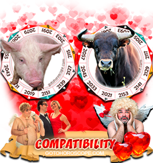 Pig Ox Zodiac signs Compatibility Horoscope