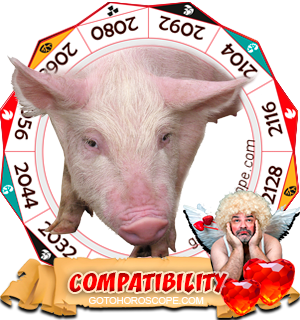 Chinese Zodiac sign Pig Compatibility Horoscope