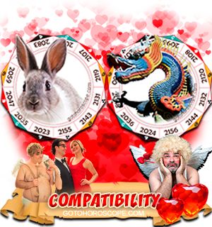 Rabbit Dragon Zodiac signs Compatibility Horoscope