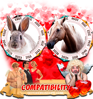 Rabbit Horse Zodiac signs Compatibility Horoscope