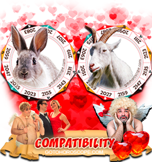 Rabbit Ram Zodiac signs Compatibility Horoscope